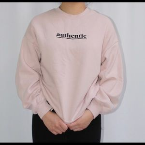 Light pink authentic crewneck
